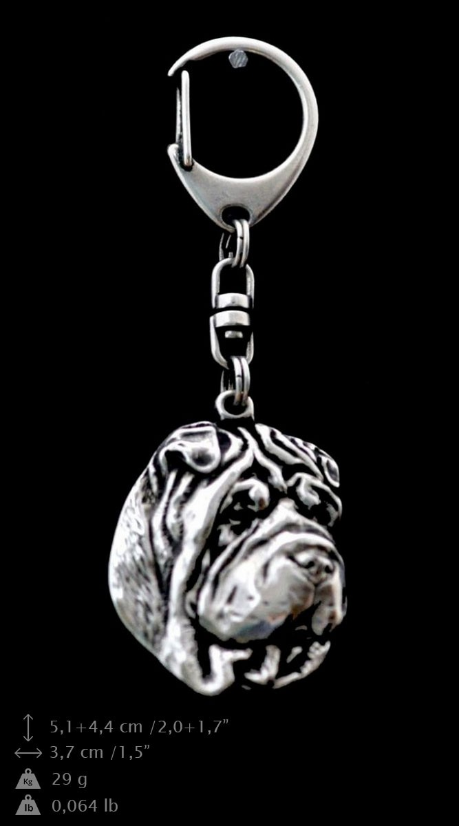 high qauality Art Dog Shar-Pei silver covered necklace