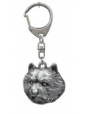 Norwich Terrier - keyring (silver plate) - 110
