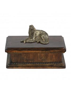 Borzoi lying, Russian Wolfhound- exlusive urn