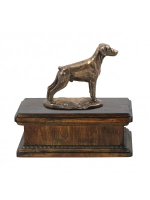 Doberman uncropped- exlusive urn