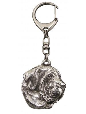 Spanish Mastiff - keyring (silver plate) - 83