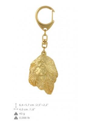Afghan Hound - keyring (gold plating) - 826 - 30025