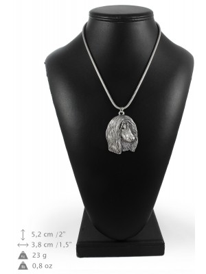 Afghan Hound - necklace (silver cord) - 3237 - 33367