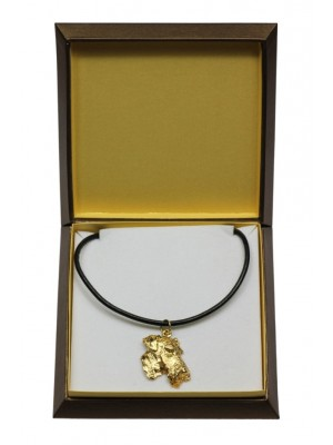Airedale Terrier - necklace (gold plating) - 3067 - 31703