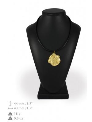 American Bulldog - necklace (gold plating) - 987 - 31342