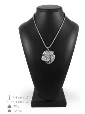American Bulldog - necklace (silver cord) - 3227 - 33349