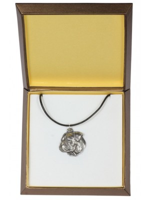 American Bulldog - necklace (silver plate) - 2978 - 31121