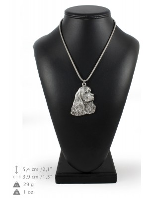 American Cocker Spaniel - necklace (silver chain) - 3287 - 33593