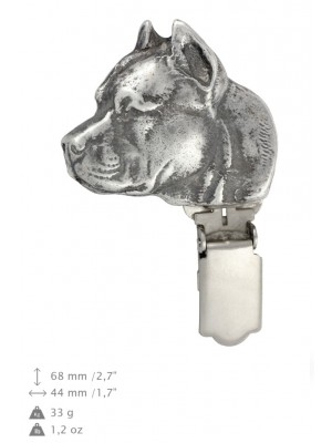 American Staffordshire Terrier - clip (silver plate) - 14 - 26192