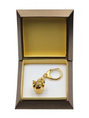 American Staffordshire Terrier - keyring (gold plating) - 2850 - 30512