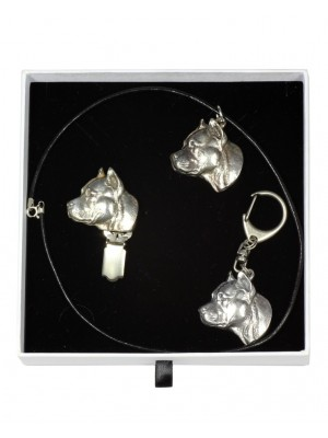 American Staffordshire Terrier - keyring (silver plate) - 2045 - 17059