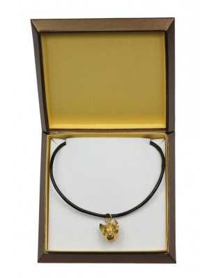 American Staffordshire Terrier - necklace (gold plating) - 2467 - 27626