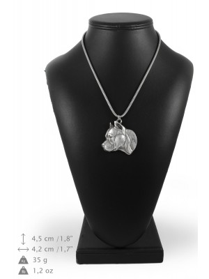 American Staffordshire Terrier - necklace (silver chain) - 3309 - 34430