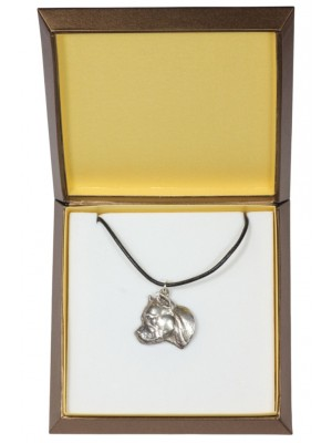 American Staffordshire Terrier - necklace (silver plate) - 2943 - 31087