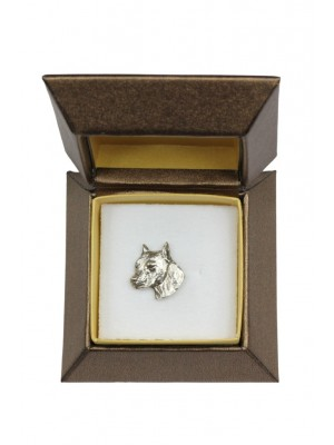 American Staffordshire Terrier - pin (silver plate) - 2668 - 28950