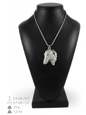 Azawakh - necklace (silver cord) - 3215 - 33246