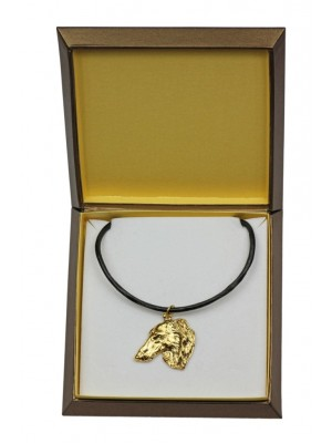 Barzoï Russian Wolfhound - necklace (gold plating) - 2476 - 27635