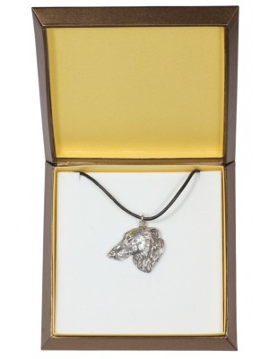 Barzoï Russian Wolfhound - necklace (silver plate) - 2923 - 31067
