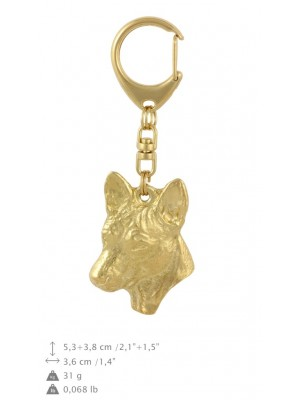 Basenji - keyring (gold plating) - 873 - 30114