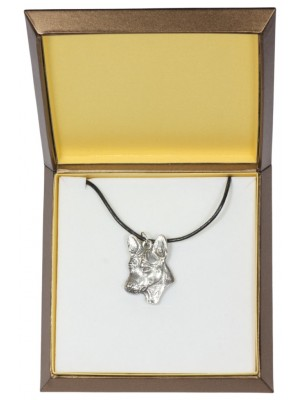 Basenji - necklace (silver plate) - 2982 - 31125