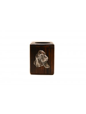 Basset Hound - candlestick (wood) - 4012 - 37965