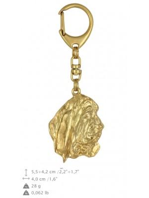 Basset Hound - keyring (gold plating) - 2368 - 25581