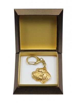 Basset Hound - keyring (gold plating) - 2867 - 30528