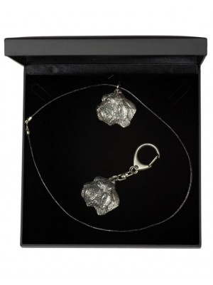 Basset Hound - keyring (silver plate) - 1799 - 11942