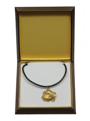 Basset Hound - necklace (gold plating) - 3047 - 31683