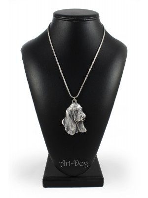 Basset Hound - necklace (silver chain) - 3378 - 34647