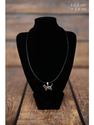 Basset Hound - necklace (strap) - 3839 - 37184