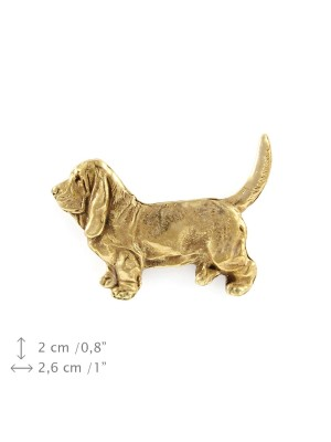 Basset Hound - pin (gold) - 1483 - 7397