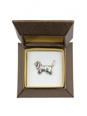 Basset Hound - pin (silver plate) - 2636 - 28917