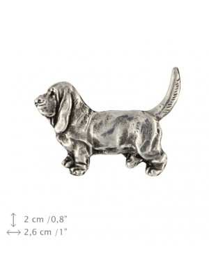 Basset Hound - pin (silver plate) - 450 - 25897