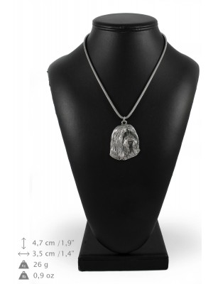 Bearded Collie - necklace (silver cord) - 3159 - 33026