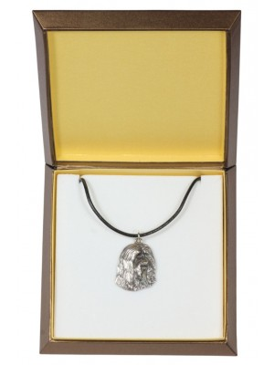 Bearded Collie - necklace (silver plate) - 2917 - 31061