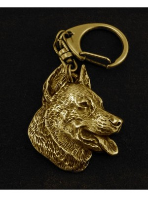 Beauceron - keyring (gold plating) - 818 - 3886