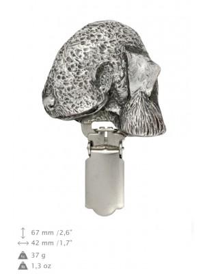 Bedlington Terrier - clip (silver plate) - 688 - 26454