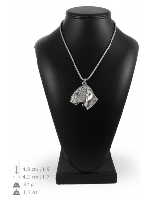Bedlington Terrier - necklace (silver chain) - 3322 - 34455