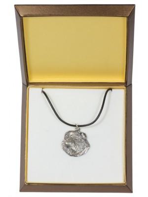 Belgium Griffon - necklace (silver plate) - 2933 - 31077