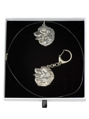 Bernese Mountain Dog - keyring (silver plate) - 1942 - 14578