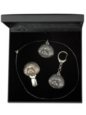 Bichon Frise - keyring (silver plate) - 1879 - 13206