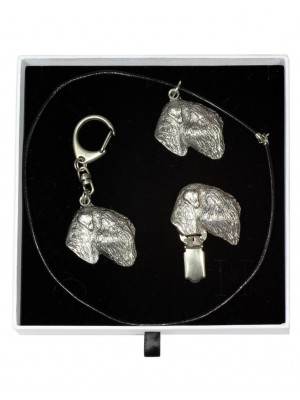 Black Russian Terrier - keyring (silver plate) - 2066 - 17696