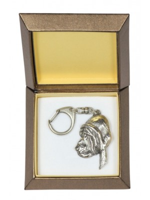 Bloodhound - keyring (silver plate) - 2771 - 29891