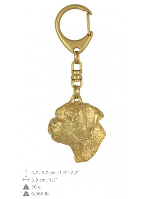Border Terrier - keyring (gold plating) - 868 - 25257
