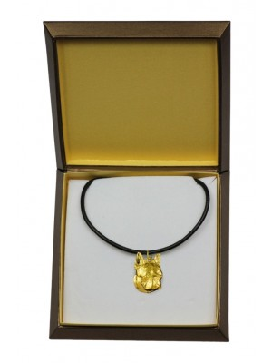 Boston Terrier - necklace (gold plating) - 2484 - 27643