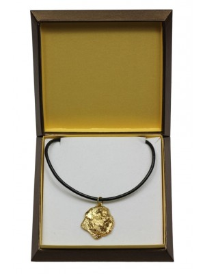 Bouvier des Flandres - necklace (gold plating) - 3030 - 31666
