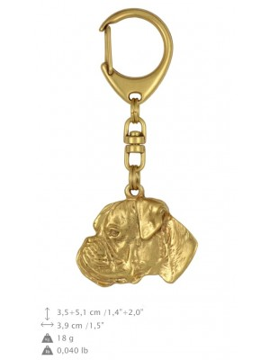 Boxer - keyring (gold plating) - 816 - 25102