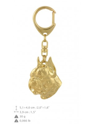 Boxer - keyring (gold plating) - 855 - 30065