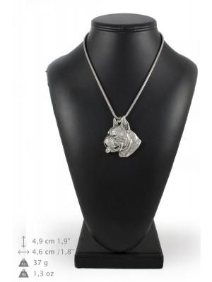 Boxer - necklace (silver cord) - 3164 - 33037